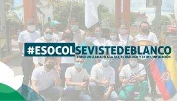 ESOCOL se viste de blanco por la paz y la reconciliación.