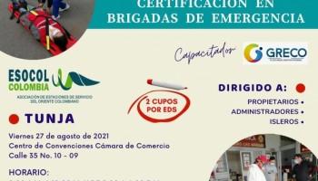 Capacitación brigadas de emergencia - Agosto 2021